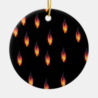 Fire flames ceramic ornament