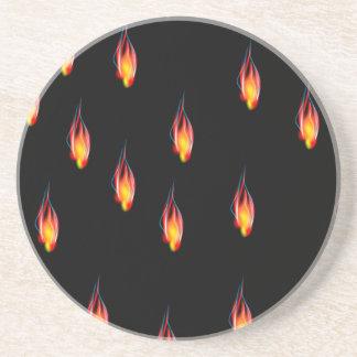 Fire flames coaster