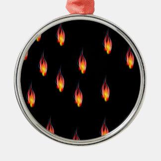 Fire flames metal ornament