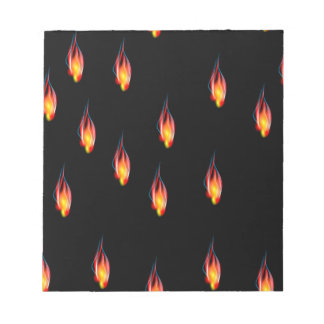 Fire flames notepad