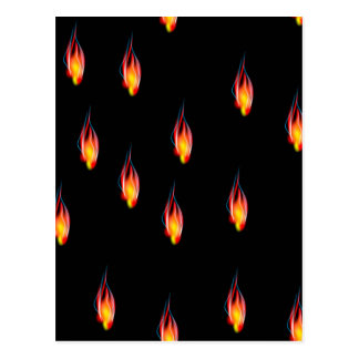 Fire flames postcard