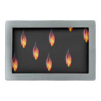 Fire flames rectangular belt buckles