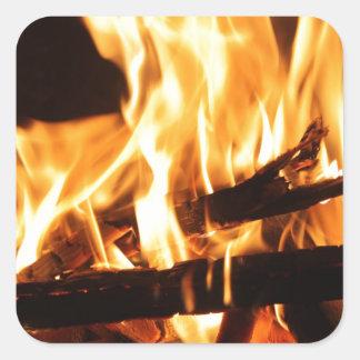 Fire & Flames Square Sticker