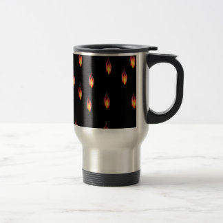 Fire flames travel mug