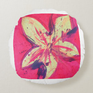 Fire Flower by Jane Round Pillow