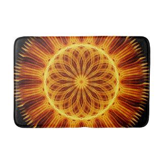 Fire Flower Mandala Bath Mat