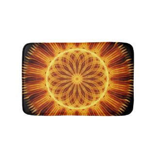 Fire Flower Mandala Bathroom Mat