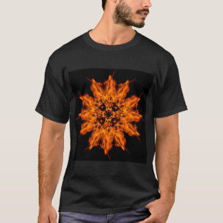 Fire Flower Mandala Fire Art Men's T-shirt
