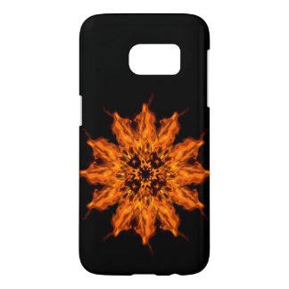Fire Flower Mandala Fire Art Samsung Galaxy S7 Samsung Galaxy S7 Case