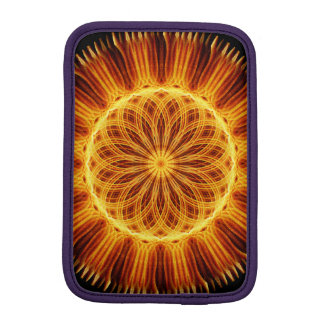 Fire Flower Mandala iPad Mini Sleeve