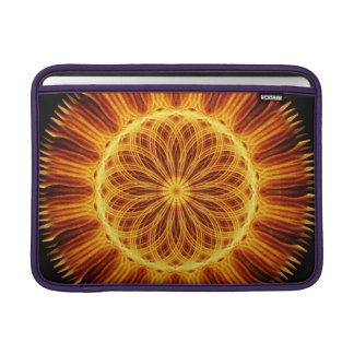 Fire Flower Mandala MacBook Sleeve