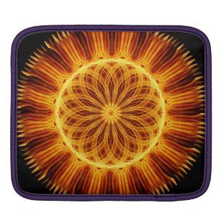 Fire Flower Mandala Sleeve For iPads