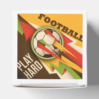 Fire Football Soccer Sport Ball Wedding Favor Box