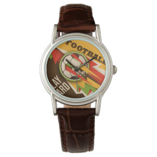 Fire Football Soccer Sport Ball Wristwatches