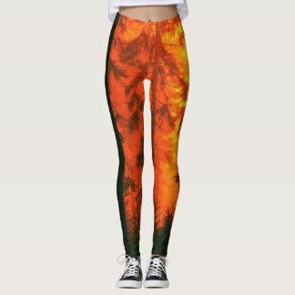 Fire forest leggings