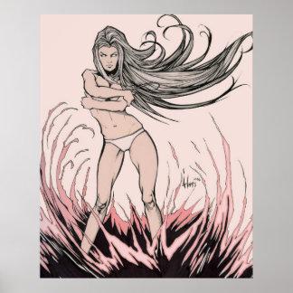 Fire Goddess Poster