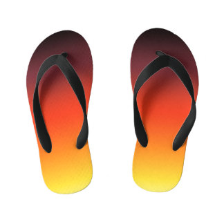 Fire Gradient Kid's Flip Flops