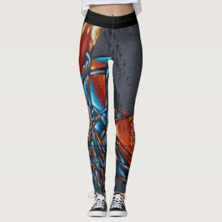 Fire Graffiti Leggings