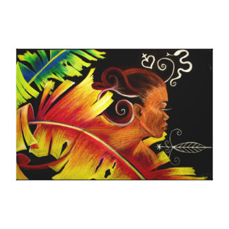 Fire - Haitian Art by Nazaire Canvas Print