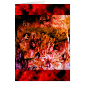Fire Hands Greeting Card