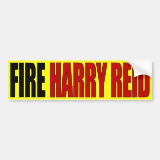 Fire Harry Reid - Anti Harry Reid Bumper Sticker