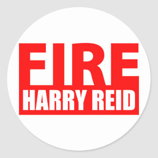 Fire Harry Reid Classic Round Sticker