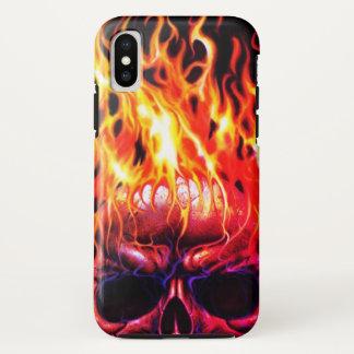 fire head skeleton iphone case