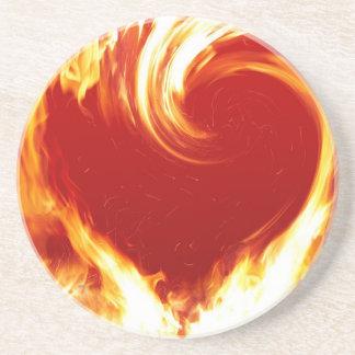 fire-heart coaster