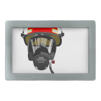 Fire Helmet Rectangular Belt Buckles