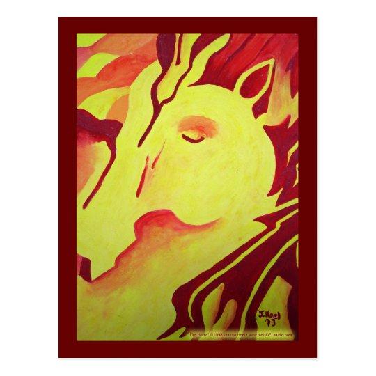 Fire Horse Postcard