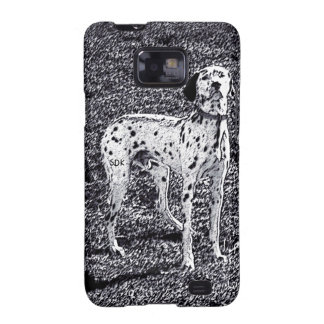 Fire House Dalmatian Dog in Black and White Ink Galaxy SII Cases