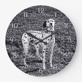 Fire House Dalmatian Dog in Black and White Ink