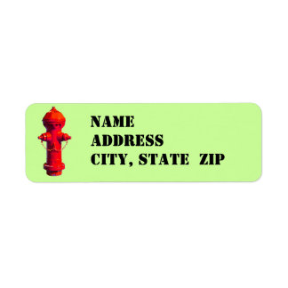 Fire Hydrant Address Labels