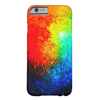 Fire & Ice Abstract Airbrush Art Custom iPhone Barely There iPhone 6 Case