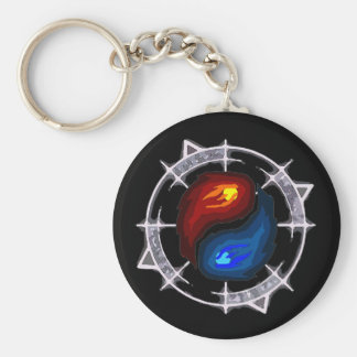 Fire, Ice and Arcane Keychain