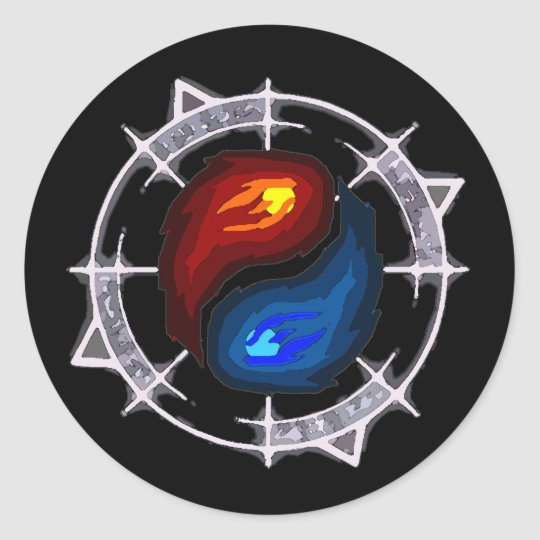 Fire, Ice and Arcane! Sticker