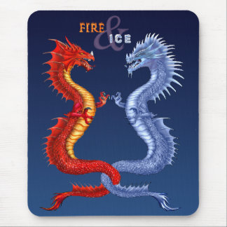 FIRE & ICE MOUSE PAD