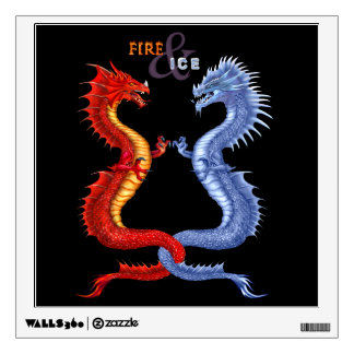 FIRE & ICE WALL DECAL