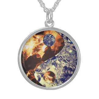 Fire & Ice Yin Yang Necklace
