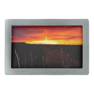 Fire in the Sky at Sunrise Belt Buckle