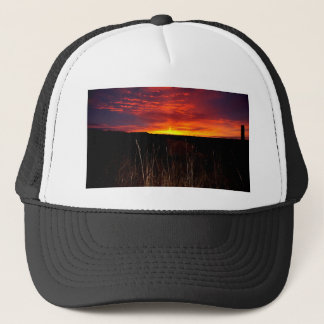 Fire in the Sky at Sunrise Trucker Hat