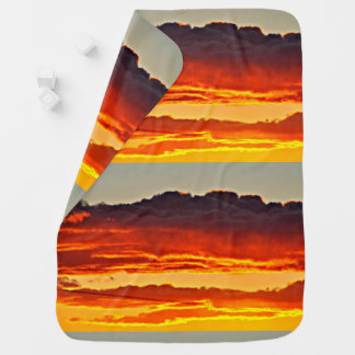 Fire In The Sky Baby Blanket