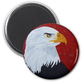 Fire In The Sky Eagle. 2 Inch Round Magnet