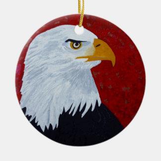 Fire In The Sky Eagle. Ceramic Ornament