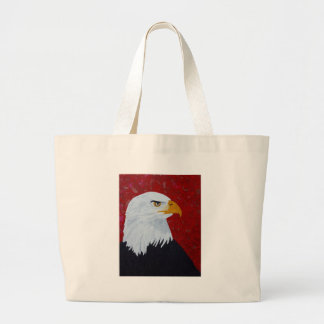 Fire In The Sky Eagle. Large Tote Bag