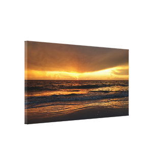Fire in the Sky Sunset Wrapped Canvas (Gloss)