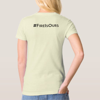 Fire is Ours Burning Piano Natural Organic T-Shirt