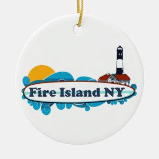 Fire Island. Ceramic Ornament