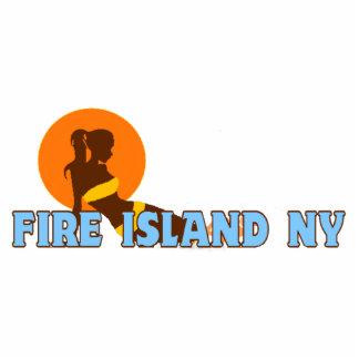 Fire Island Lighthouse. Photo Sculpture Button