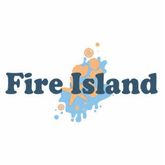 Fire Island. Photo Sculpture Button